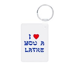 I Love You a Latke Keychains