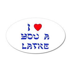 I Love You a Latke 38.5 x 24.5 Oval Wall Peel