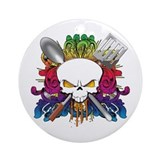 Chef Skull Ornament (Round)