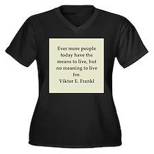 Viktor Frankl quote Women's Plus Size V-Neck Dark