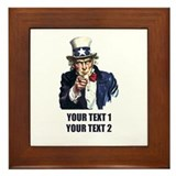 [Your text] Uncle Sam Framed Tile