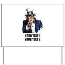 [Your text] Uncle Sam Yard Sign