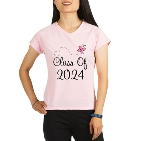Sweet Pink Class Of 2024 Performance Dry T-Shirt