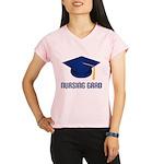 Blue Nursing Grad Performance Dry T-Shirt