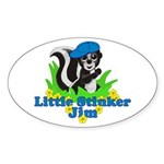 Little Stinker Jim Sticker (Oval 10 pk)