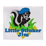 Little Stinker Jim Throw Blanket