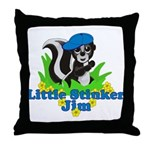 Little Stinker Jim Throw Pillow
