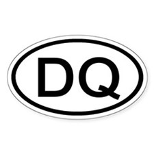 DQ - Initial Oval Oval Decal