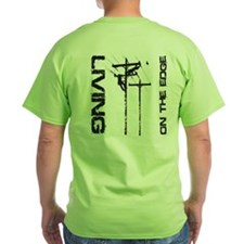 Lineman Living on the Edge T-Shirt