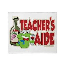 Teacher's Aide (Wine) Throw Blanket