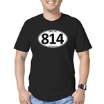 Erie, PA 814 Men's Fitted T-Shirt (dark)