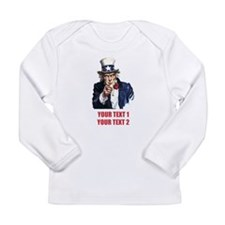 [Your text] Uncle Sam 2 Long Sleeve Infant T-Shirt
