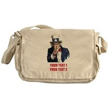 [Your text] Uncle Sam 2 Messenger Bag