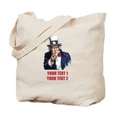 [Your text] Uncle Sam 2 Tote Bag
