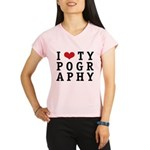 I Heart Typography Performance Dry T-Shirt