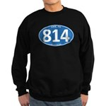 Blue Erie, PA 814 Dark Sweatshirt (dark)