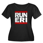 RUN ERI Women's Plus Size Scoop Neck Dark T-Shirt