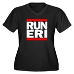 RUN ERI Women's Plus Size V-Neck Dark T-Shirt