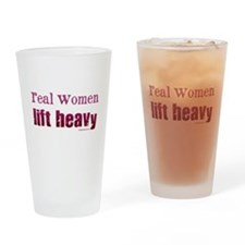 Real women lift heavy Drinking Glass