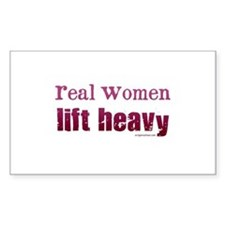 Real women lift heavy Decal
