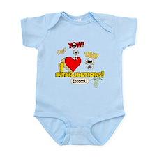I Heart Interjections Infant Bodysuit