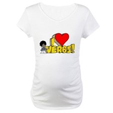 I Heart Verbs - Schoolhouse Rock! Maternity T-Shir
