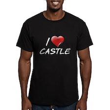 I Heart Castle Men's Fitted T-Shirt (dark)