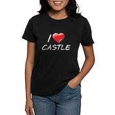 I Heart Castle Women's Dark T-Shirt
