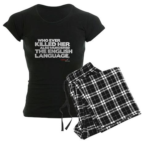 Murdered the English Language Women's Dark Pajamas