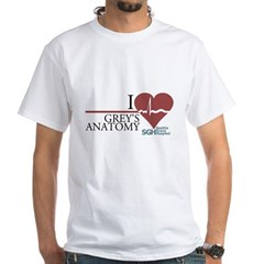 I Heart Grey's Anatomy White T-Shirt