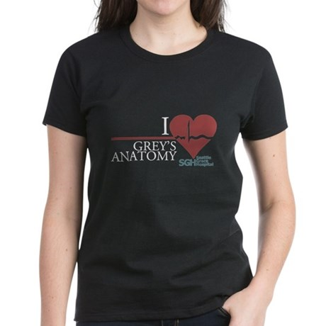 I Heart Grey's Anatomy Women's Dark T-Shirt