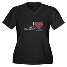 I Heart Grey's Anatomy Women's Plus Size V-Neck Da