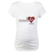 I Heart Addison - Grey's Anatomy Maternity T-Shirt