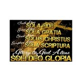 Soli Deo Gloria Rectangle Magnet