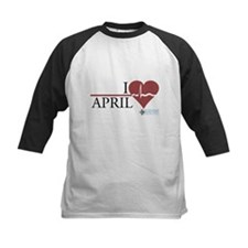 I Heart April - Grey's Anatomy Kids Baseball Jerse