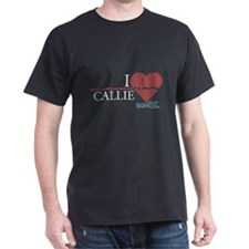 I Heart Callie - Grey's Anatomy Dark T-Shirt