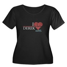 I Heart Derek - Grey's Anatomy Women's Plus Size S