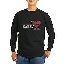 I Heart Karev - Grey's Anatomy Long Sleeve Dark T-