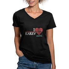 I Heart Karev - Grey's Anatomy Women's V-Neck Dark