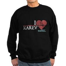 I Heart Karev Dark Sweatshirt