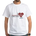 I Heart Ortho - Grey's Anatomy White T-Shirt