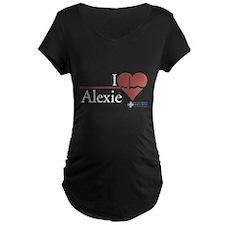 I Heart Alexie - Grey's Anatomy Maternity Dark T-S