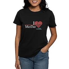 I Heart MerDer - Grey's Anatomy Women's Dark T-Shi