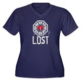 I Heart Lost - LOST Women's Plus Size V-Neck Dark