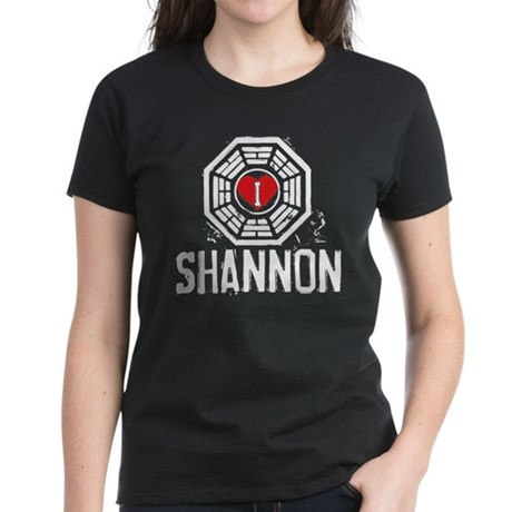 I Heart Shannon - LOST Women's Dark T-Shirt