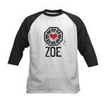 I Heart Zoe - LOST Kids Baseball Jersey