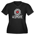 I Heart Widmore - LOST Women's Plus Size V-Neck Dark T-Shirt