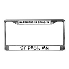 Happiness is St Paul License Plate Frame