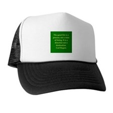 Carl Rogers quote Trucker Hat