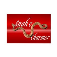 """Snake Charmer"" Rectangle Magnet"